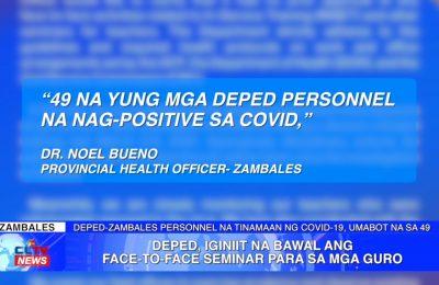 DepEd, iginiit na bawal ang face-to-face seminar sa mga guro | Zambales News
