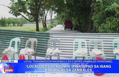 'Localized lockdown' ipinatupad sa isang barangay sa Zambales | Zambales News