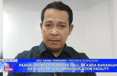 Paaralan, multi-purpose hall sa kada barangay sa Bulacan, gagawing isolation facility | Bulacan News