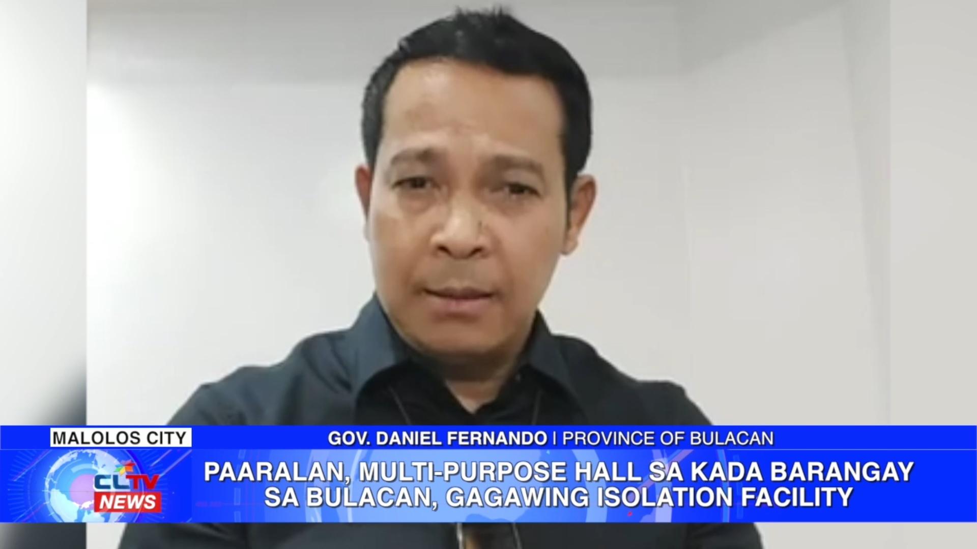 Paaralan, multi-purpose hall sa kada barangay sa Bulacan, gagawing isolation facility | CLTV36 News