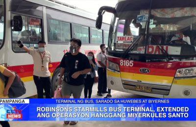 Robinsons Starmills Bus Terminal, extended ang operasyon hanggang Miyerkules Santo | Pampanga News