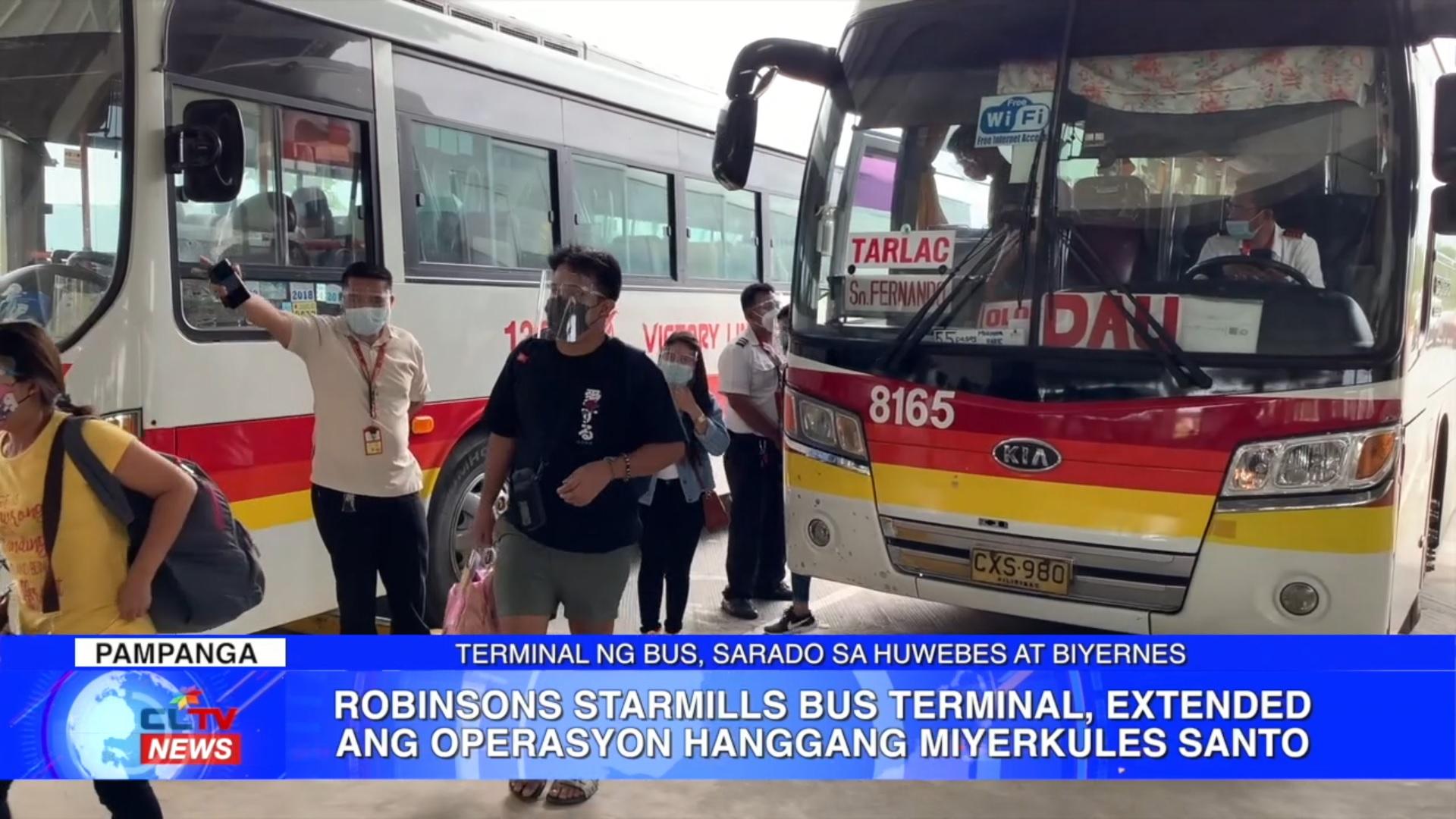 Robinsons Starmills Bus Terminal, extended ang operasyon hanggang Miyerkules Santo | CLTV36 News