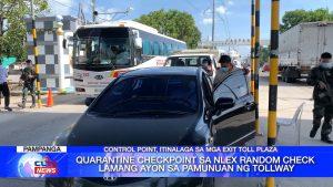 Quarantine checkpoint sa NLEX random check lamang ayon sa pamunuan ng tollway   CLTV36 News