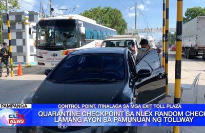 Quarantine checkpoint sa NLEX random check lamang ayon sa pamunuan ng tollway | Central Luzon News