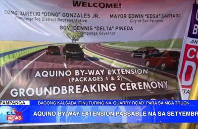 Aquino By-Way Extension, passable na sa Setyembre | PAMPANGA News