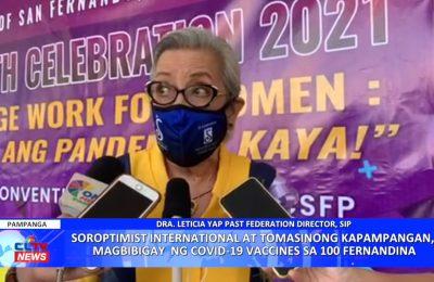 Soroptimist International at Tomasinong Kapampangan, magbibigay ng COVID-19 vaccines sa 100 Fernandina | PAMPANGA News