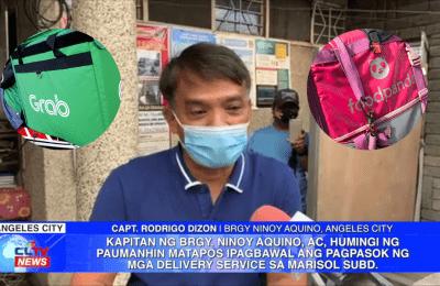 Kapitan ng Brgy. Ninoy Aquino, Angeles City, humingi ng paumanhin matapos ipagbawal ang pagpasok ng mga delivery service sa Marisol Subd. | Pampanga News