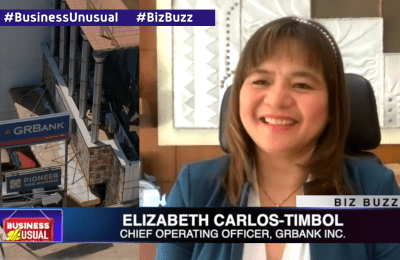 Elizabeth Carlos-Timbol of GRBank, empowering women as a business leader | Business Unusual