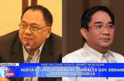 Nueva Ecija Gov. Umali at Zambales Gov. Ebdane, positibo sa COVID-19 | Central Luzon News