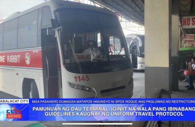 Pamunuan ng Dau Terminal, iginiit na wala pang ibinabang guidelines kaugnay ng uniform travel protocol | PAMPANGA News