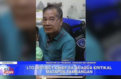 LTO District Chief sa Guagua, Pampanga kritikal matapos tambangan | Pampanga News