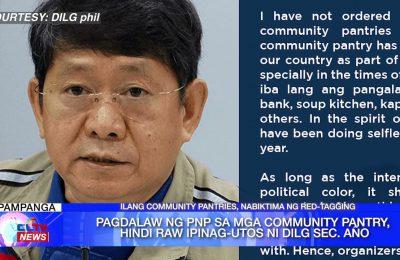 Pagdalaw ng PNP sa mga community pantry, hindi raw ipinag-utos ni DILG Sec. Año | Central Luzon News