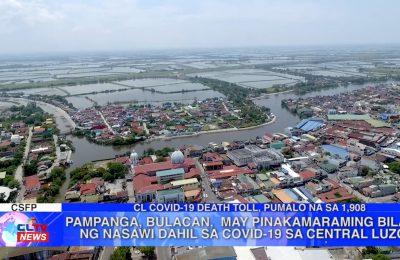 Pampanga, Bulacan, may pinakamaraming bilang ng nasawi dahil sa COVID-19 sa Central Luzon