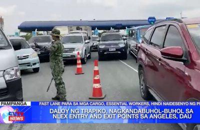 Daloy ng trapiko, nagkandabuhol-buhol sa NLEX Entry and Exit Points sa Angeles, Dau | Pampanga News