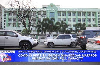COVID-19 beds sa JBLMGH dinagdagan matapos umabot sa 100% full capacity | Pampanga News