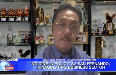 'No Dine-In Policy' sa San Fernando, ikinagulat ng business sector | Pampanga News
