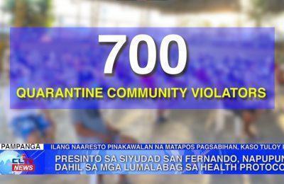 Presinto sa Syudad San Fernando, napupuno dahil sa lumalabag sa health protocols | Pampanga News