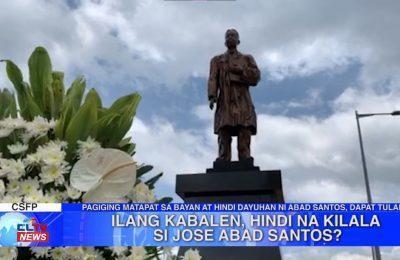 Ilang kabalen, hindi na kilala si Jose Abad Santos? | Pampanga News