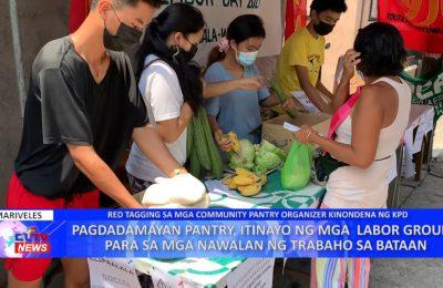 Pagdadamayan Pantry, itinayo ng mga labor group para sa mga nawalan ng trabaho sa Bataan | Bataan News