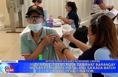 Senior Citizens mula sa bawat barangay ng San Fernando, isasalang sa kada batch COVID-19 vaccination | Pampanga News
