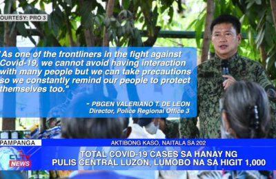 Total COVID-19 cases sa hanay ng Pulis Central Luzon, lumobo na sa higit 1,000 | Central Luzon News