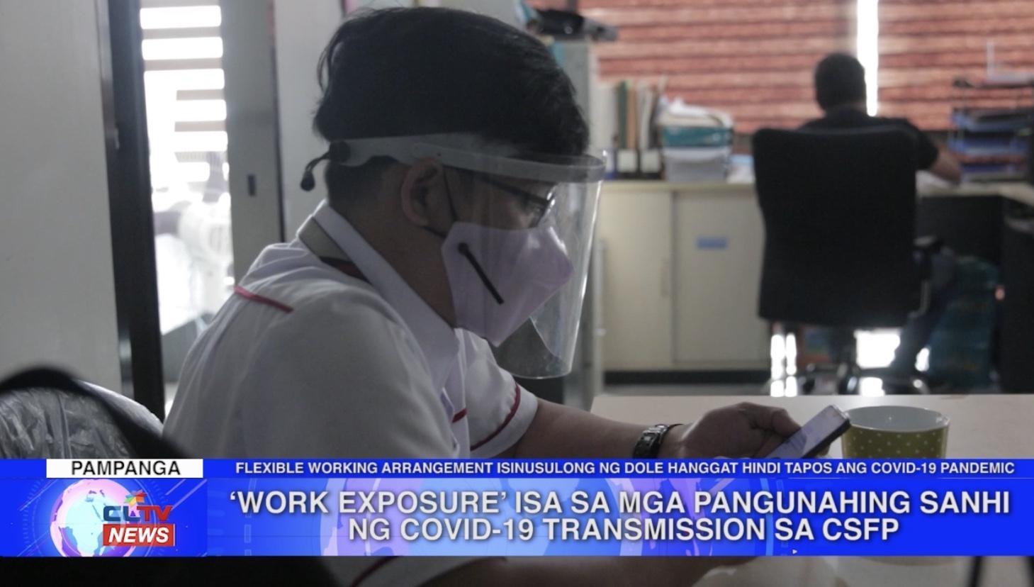 'Work exposure' isa sa mga pangunahing sanhi ng COVID-19 transmission sa City of San Fernando, Pampanga