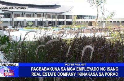Pagbabakuna sa mga empleyado ng isang real estate company, ikinakasa sa Porac, Pampanga | Pampanga News