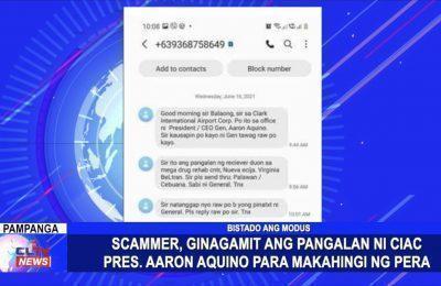 Scammer, ginamit ang pangalan ni CIAC Pres. Aaron Aquino para makahingi ng pera | Pampanga News