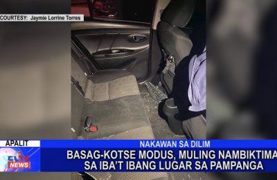 Basag-kotse modus, muling nambiktima sa iba't ibang lugar sa Pampanga | Pampanga News