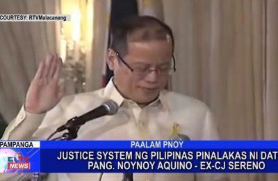 Ex-CJ Sereno: Justice system ng Pilipinas pinalakas ni dating Pangulong Noynoy Aquino | Central Luzon News