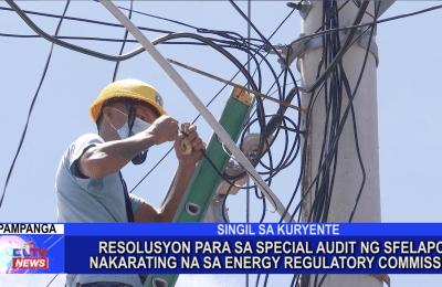 Resolusyon para sa special audit ng SFELAPCO nakarating na sa Energy Regulatory Commission