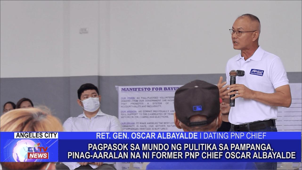 Pagpasok sa mundo ng pulitika sa Pampanga, pinag-aaralan na ni Former PNP Chief Oscar Albayalde