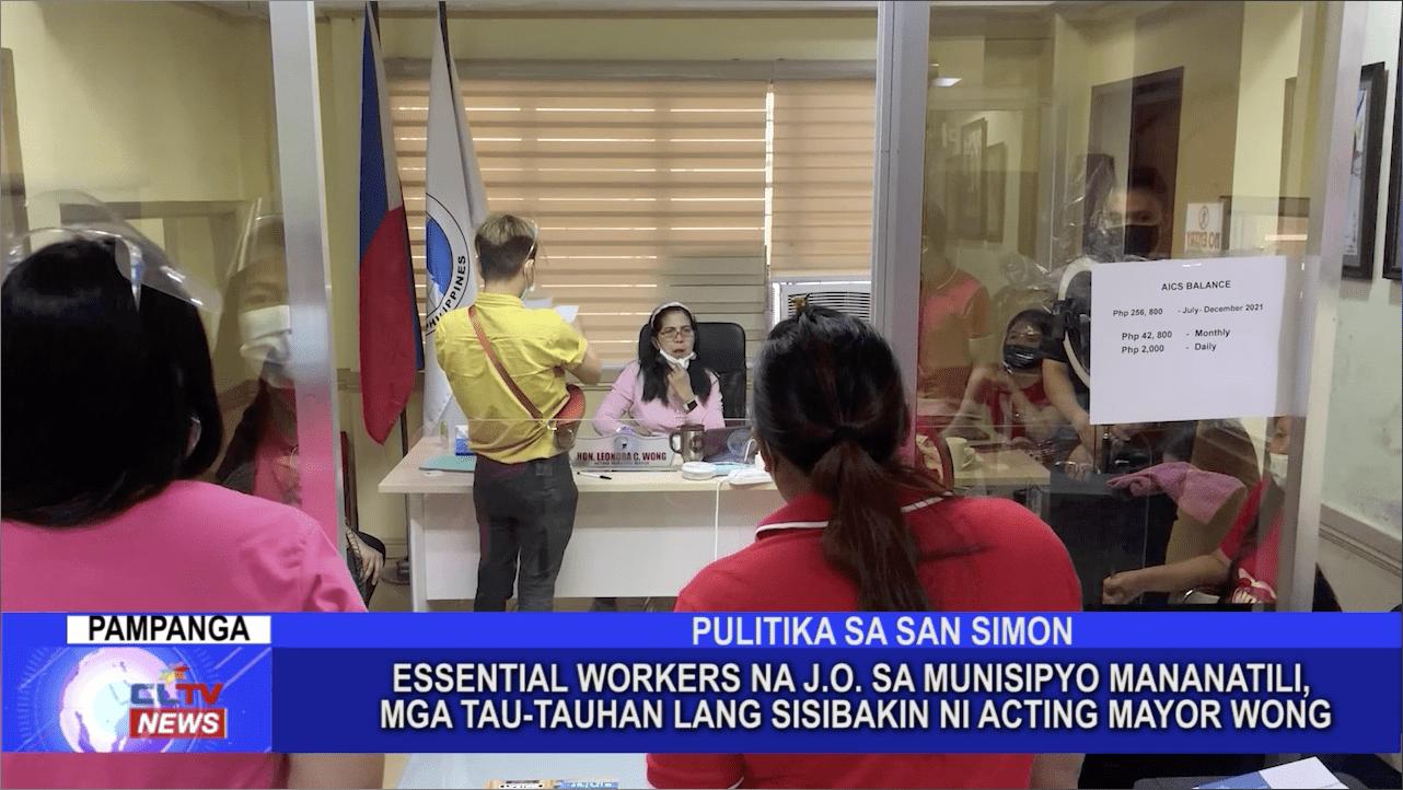 Essential workers na J.O. sa Munisipyo mananatili, mga tau-tauhan lang sisibakin ni Acting Mayor Wong