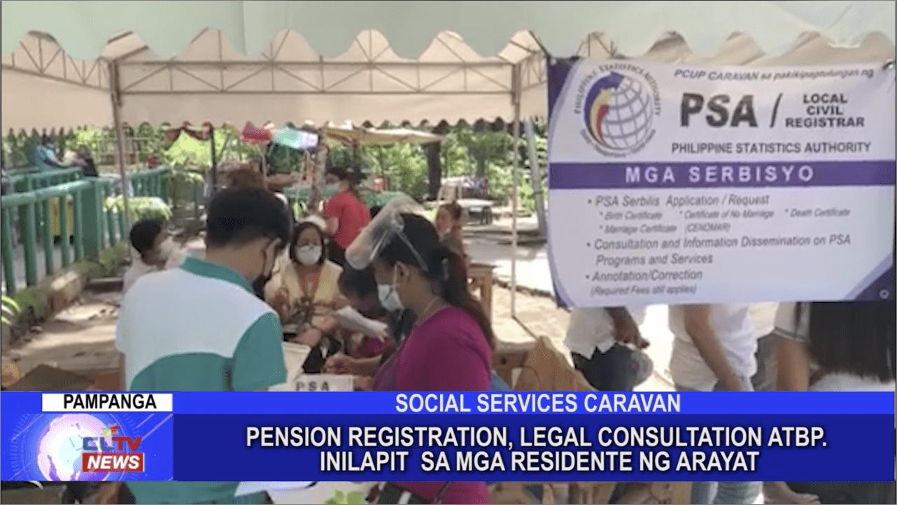 Pension Registration, Legal Consultation atbp. inilapit sa mga residente ng Arayat