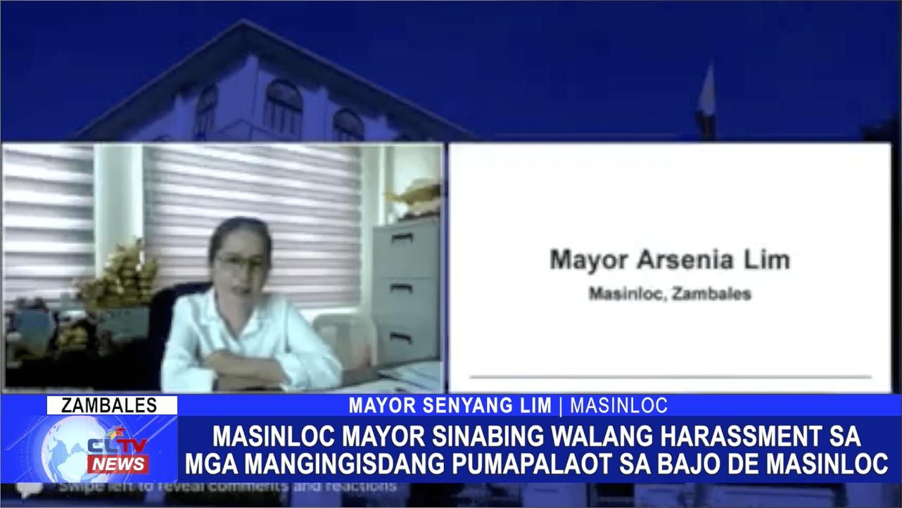 Masinloc Mayor sinabing walang harassment sa mga mangingisdang pumapalaot sa Bajo De Masinloc