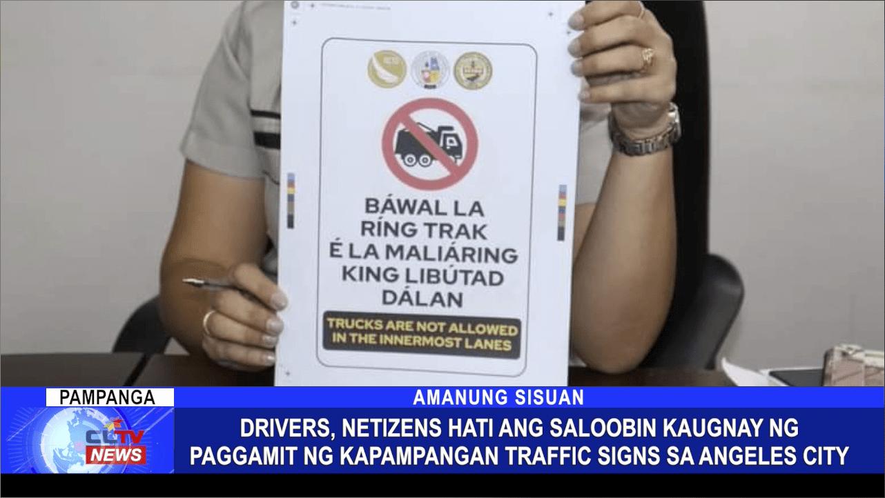 Drivers, Netizens hati ang saloobin kaugnay ng paggamit ng Kapampangan traffic signs sa Angeles City