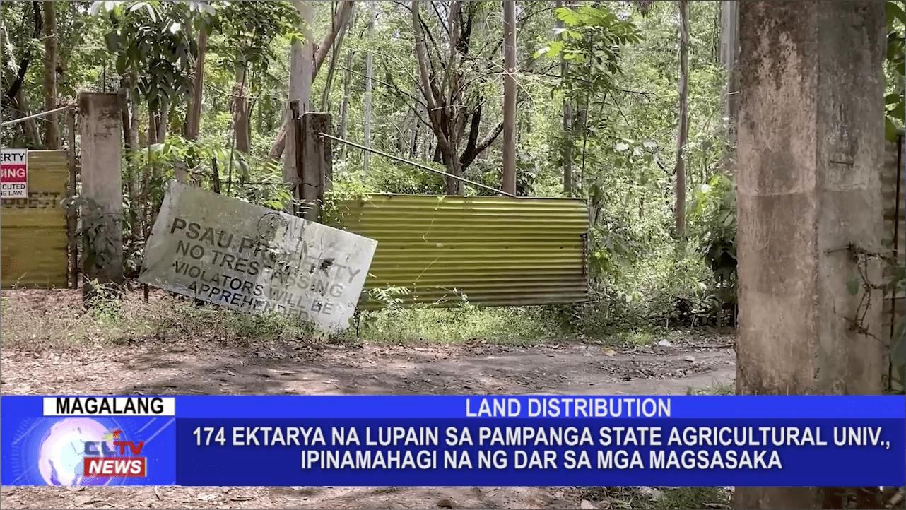 174 ektarya na lupain sa Pampanga State Agricultural University, ipinamahagi na ng DAR sa mga magsasaka