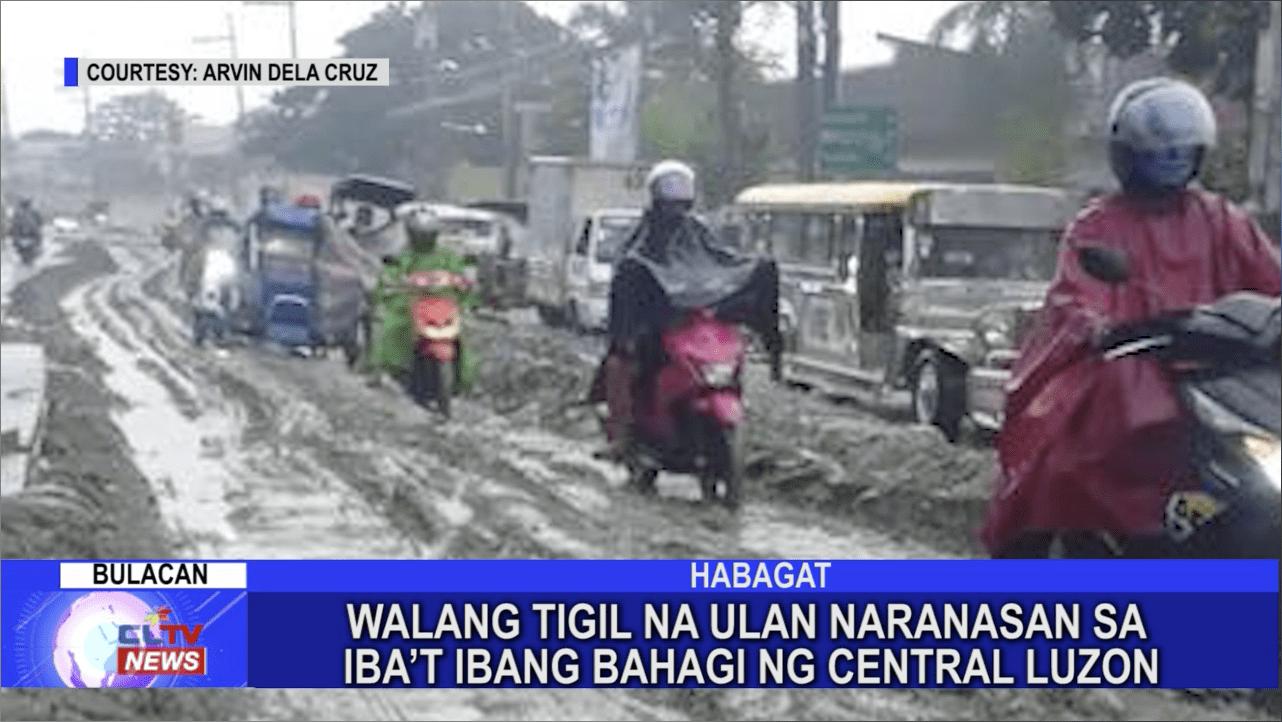 Walang tigil na ulan naranasan sa iba't ibang bahagi ng Central Luzon
