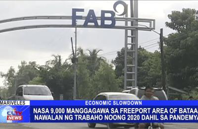 Nasa 9,000 manggagawa sa Freeport Area of Bataan nawalan ng trabaho noong 2020 dahil sa pandemya