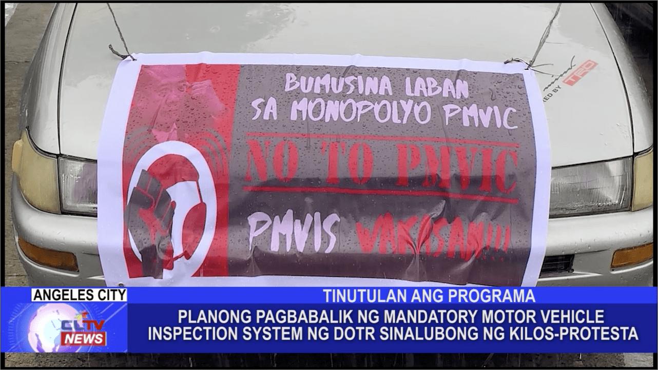Planong pagbalik ng Mandatory Motor Vehicle Inspection System ng DOTR sinalubong ng kilos-protesta