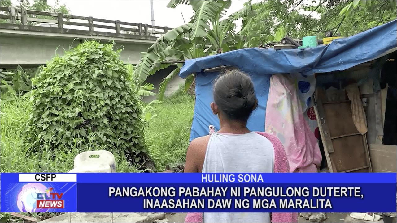 Pangakong pabahay ni Pangulong Duterte, inaasahan daw ng mga maralita