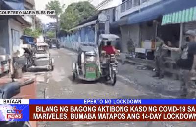 Bilang ng bagong aktibong kaso ng COVID-19 sa Mariveles, bumaba matapos ang 14-day lockdown