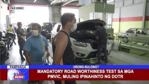 Mandatory Road Worthiness test sa mga PMVIC, muling ipinahinto ng DOTR