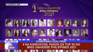 4 na karehiyon, pasok sa top 50 ng Miss Universe Philippines 2021