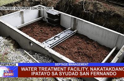 Water Treatment Facility, nakatakdang ipatayo sa Syudad San Fernando