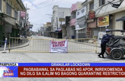 Pagbabawal sa paglabas ng APOR, inirekomenda ng DILG sa ilalim ng bagong quarantine restriction