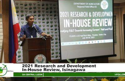 2021 Research and Development In-House Review, Isinagawa   Agri-Balita Central Luzon