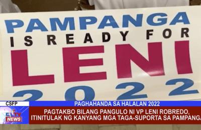 Pagtakbo bilang pangulo ni VP Leni Robredo, itinitulak ng kanyang mga taga-suporta sa Pampanga