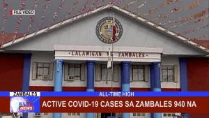 Active COVID-19 cases sa Zambales 940 na