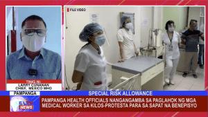 Pampanga Health Officials nangangamba sa paglahok ng mga medical worker sa kilos-protesta para sa sapat na benepisyo